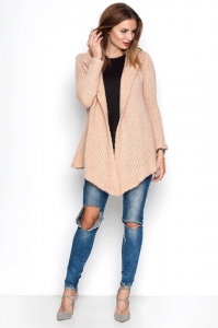Sweter oversize, morelowy